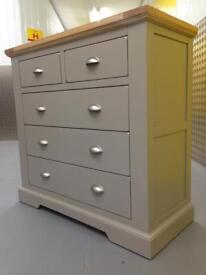Oak top & grey Solid chest of drawers dresser sideboard furniture Laura Ashley John Lewis habitat