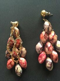 Settings Fire coloured bead detail earrings