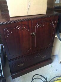 Antique Wooden mahogany tv cabinet