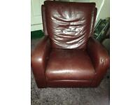 Leather Rocking, Swivel and Recliner armchair