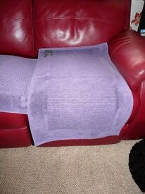 Pair of Lilac Bathroom/Car Towelling Rugs - Christy