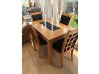 Dining table & 4 chairs - immaculate!!