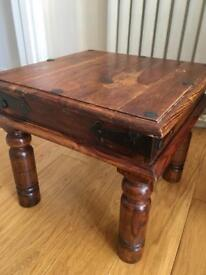 Jali Sheesham Solid Wood Side Occasional Table