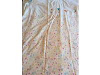 Two cot bed duvet cover sets and bumper