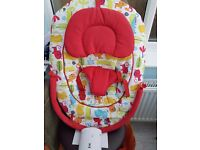 Red baby bouncer