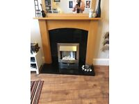 Electric Fireplace and Suround