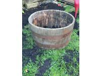 Large Half Whiskey Barrel Planter