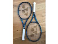 Yonex EZone DR98 Tennis Rackets x 2. Both grip 3 and new restrings