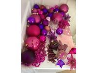 Beautiful Pink / Purple 50 Christmas Tree Decoration Baubles's.
