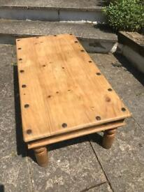 Rustic Pine Mexican Coffee Table