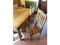 *Indian wood table set*