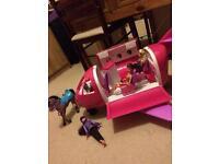 Barbie aeroplane, And Horse, 3 Dolls ✨