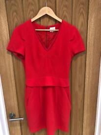 Reiss Red Dress Size 10