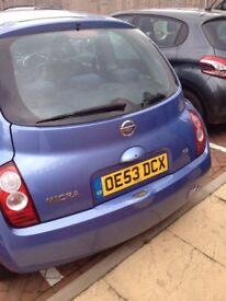Nissan Micra. Good little runaround. Well kept. Looking for a new home.