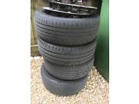 4x108 steel wheels with tyres