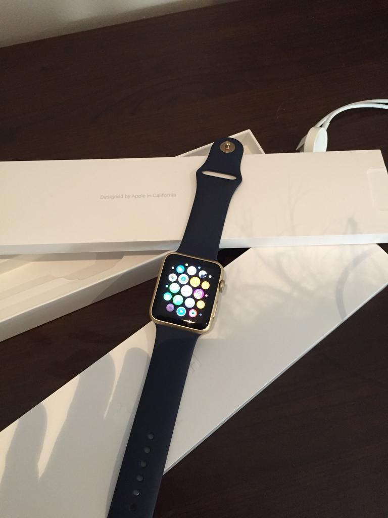 Apple Sport Watch 42 mm Gold. Outstanding Condition