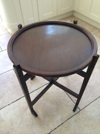 Revertable - Round Folding Occasional and Card Table, England, ca.1920 British Made
