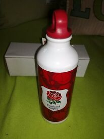 England Rugby Union aluminium drinks bottles 500ml brand new in box suitable for all sports