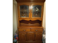 Oak Display Cabinet (with Working Lights)