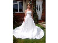 Silk Wedding Gown in Ivory
