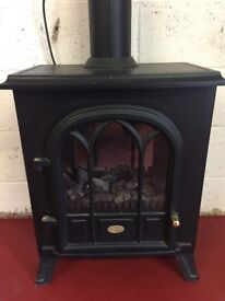 Dimplex Rectory Electric Stove Fire with remote control and flue pipe