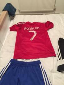 Men's adidas shorts like new and Real Madrid strip