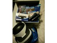 sony PlayStation VR & Camera & 4 Games & 2 Sony motion controller & VR Carry case