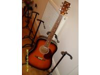 Countryman Acoustic used guitar 6 String R H. in fair good playing condition