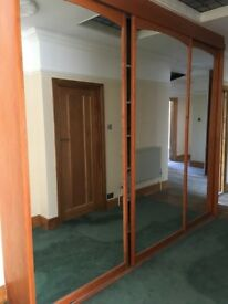 HUGE MIRRORED WARDROBE DOORS BY SLIDEROBES BARGAIN