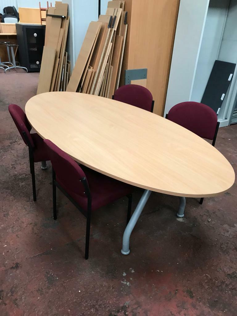 Oval Conference Conference Table Chairs Package In Smithdown - Oval conference table for 6