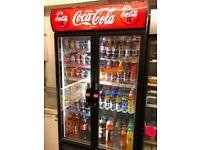Coke Cola double glass display fridge, good condition