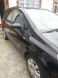 VAUXHALL ZAFIRA BLACK DEISEL 7 SEATER CAR