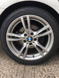 "Genuine BMW F30 M sport alloys 18"""