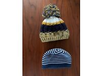 Two woolly baby hats
