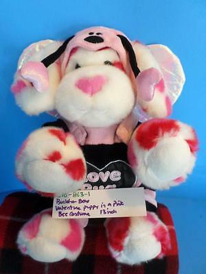 Build-a-Bear Valentine Heart Puppy Dog  in Pink Bee Costume(310-863-1)](Dog In Bear Costume)