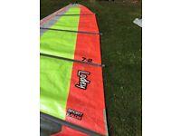 Lodey windsurf sail - 7.2m sport slalom.