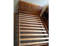 Solid Wood 4ft6in double bed frame