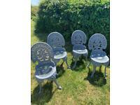 Aluminium Garden Chairs & Table.
