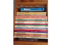 Collection of old Asterix books .