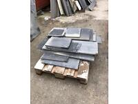 Off cuts of Italian and Brazilian Honed slate, loaded onto a pallet and ready to go £25
