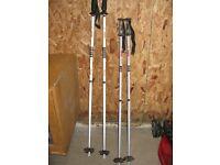Ski poles (Aluminium alloy) - 2 pairs