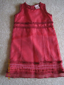 RED SUMMER PARTY DRESS age 2-3 - IMMACULATE CONDITION