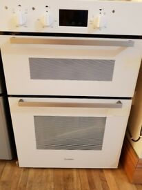 New Indesit Aria IDD 6340 WH Electric Double Oven - Built-In - 59.5 cm - 116 litre - White