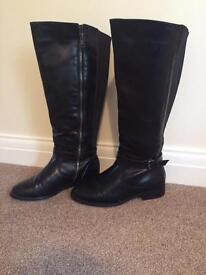 Next extra wide fit black riding boots size 5