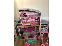Large Kiddicraft Barbie House