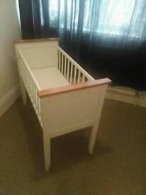 White mothercare crib