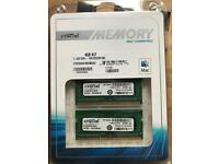 Crucial 4GB kit (2GBx2) DDR3-1066 SODIMM memory Kit for MACBook