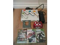 XBOX 360 ARCADE 20GB WHITE CONSOLE BUNDLE ROCK CANDY GAMES WORKING A1