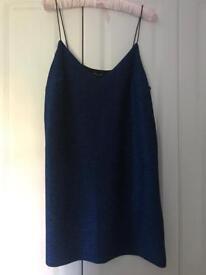 Blue glittery dress