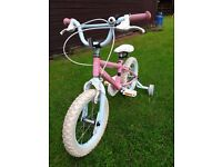 Girls 14 inch bike (approx. for 3-5years) with Stabilisers
